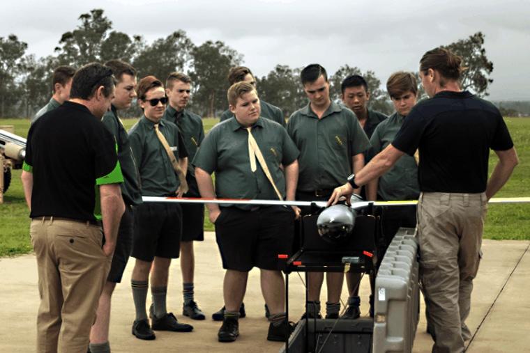 Training high school students - UAV Training Australia