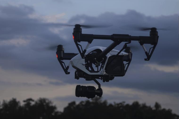 Drone Suveying Agriculturea area at night - UAV Training Australia