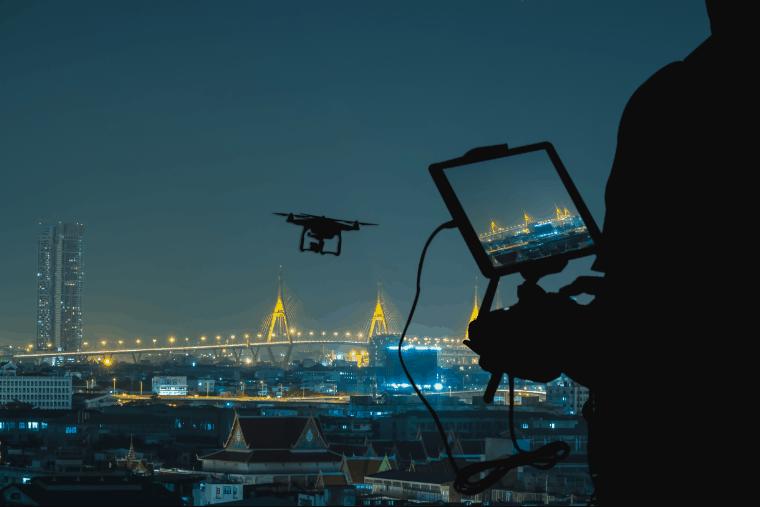 Controlling a drone at night - UAV Training Australia