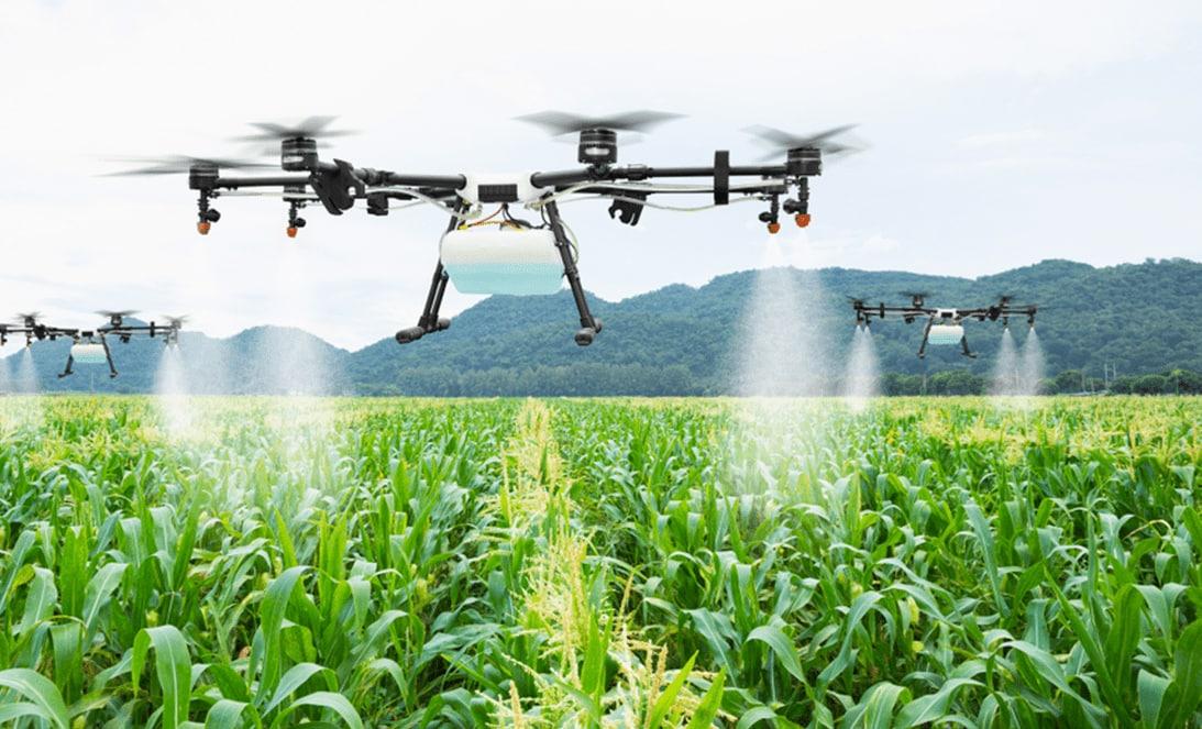 Drone spraying fertilizer - UAV Training Australia