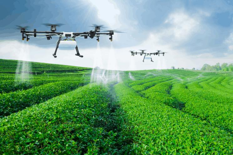 Drone spraying pesticides - UAV Training Australia