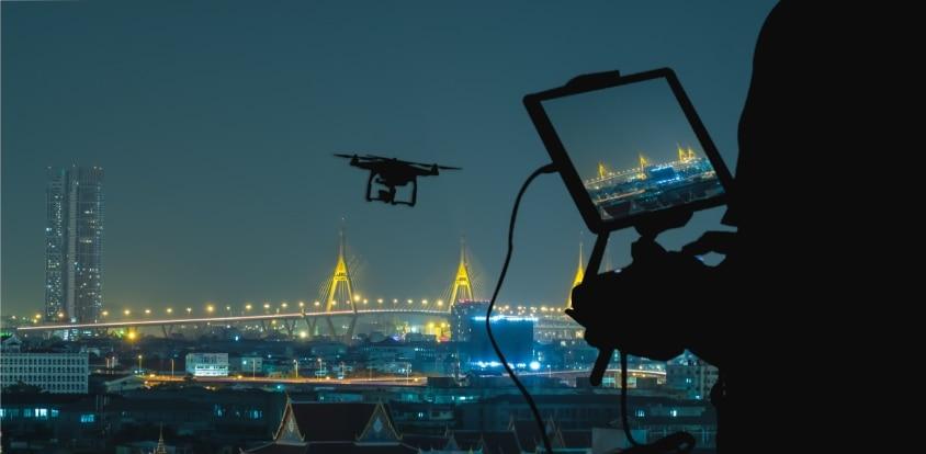 Mobile drone flying - UAV Training Australia